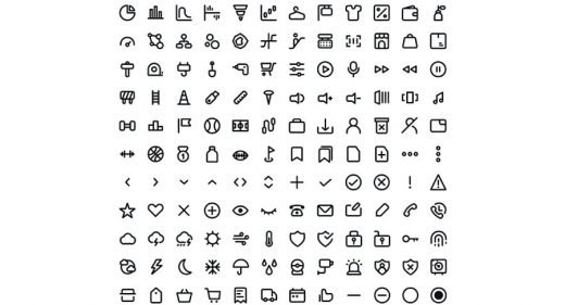 240 free line icons for Adobe XD