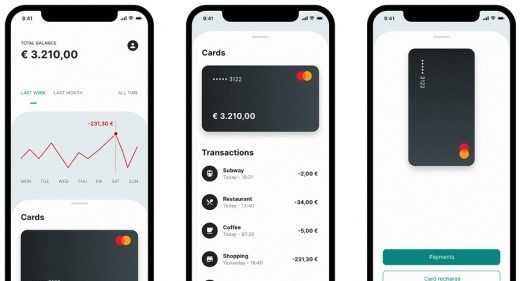 Banking app concept for Adobe XD