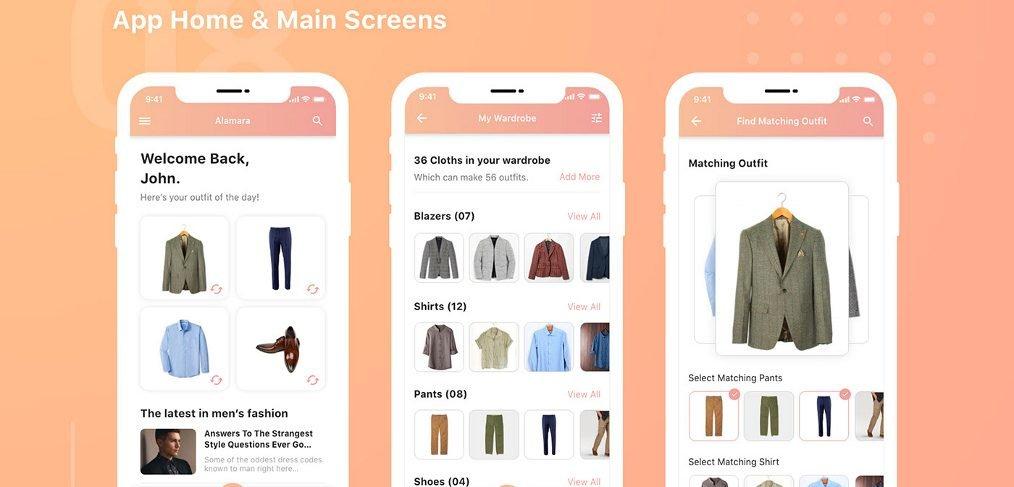 Wardrobe app template for XD
