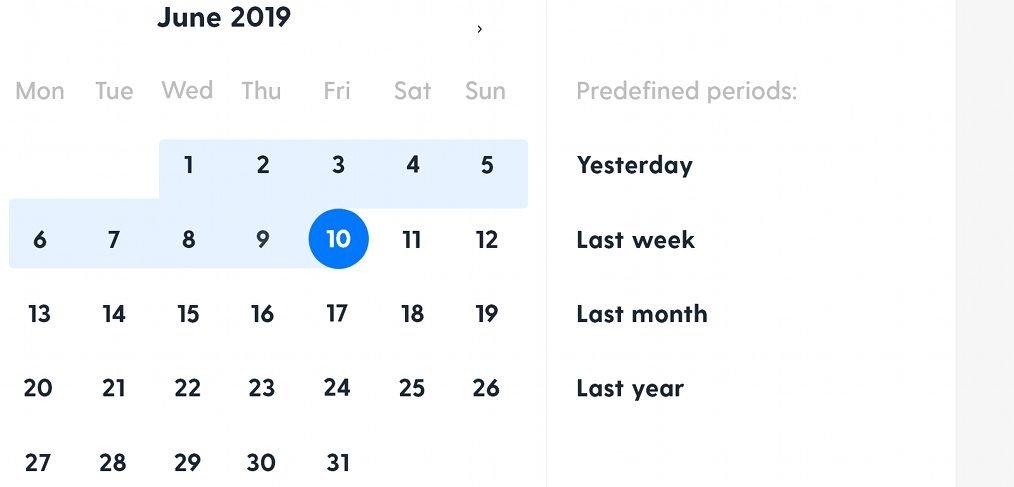 Datepicker calendar XD animation
