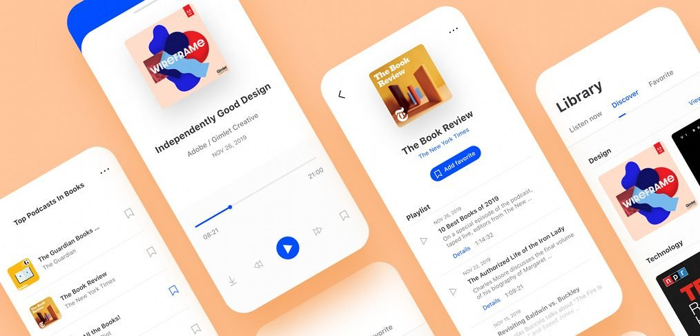 XD podcast mobile app template