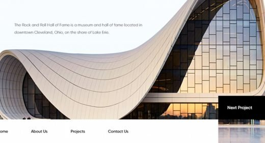 Architecture Website template for XD