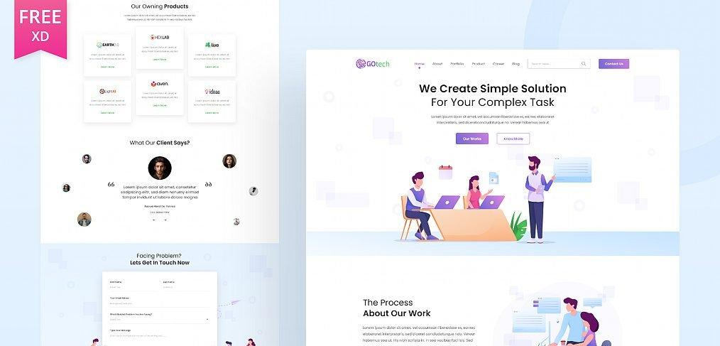 Gotech - XD Startup website template