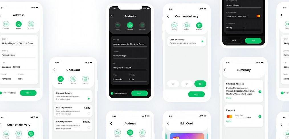 Checkout - Free XD UI kit