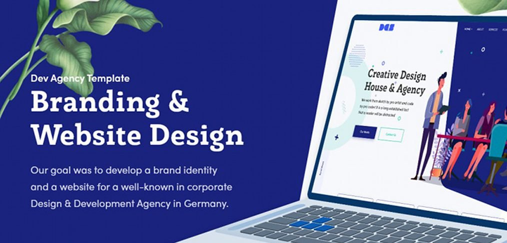 Design agency web template for XD