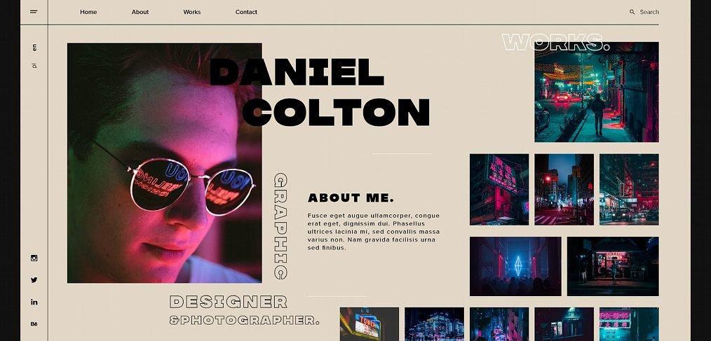 Graphic designer XD portfolio template