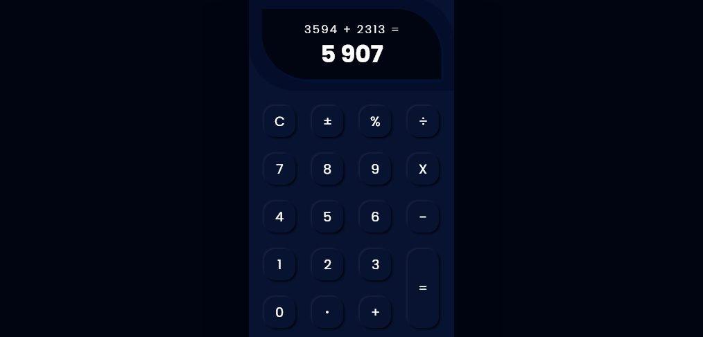 XD calculator interaction