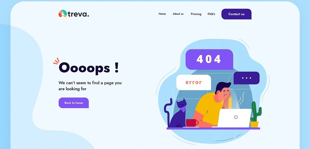 404 page template for XD
