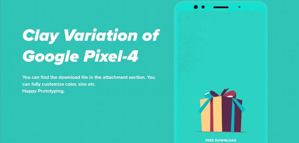 Adobe XD Pixel 4 mockup