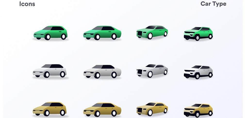 Cars illustrations XD vectors