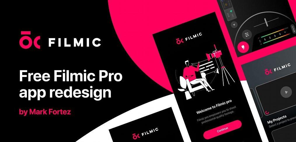 Filmic app XD redesign