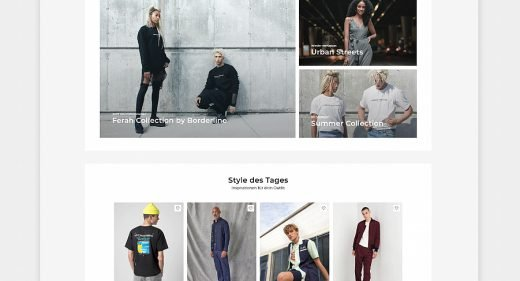 Fashion ecommerce homepage template