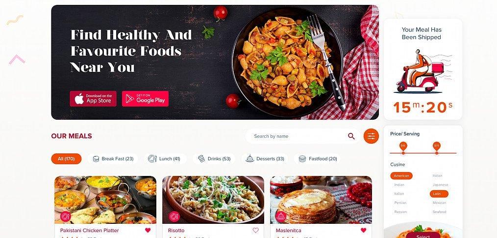 Kuk fresh food website template
