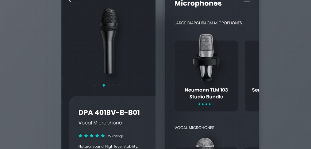 Microphone ecommerce app template