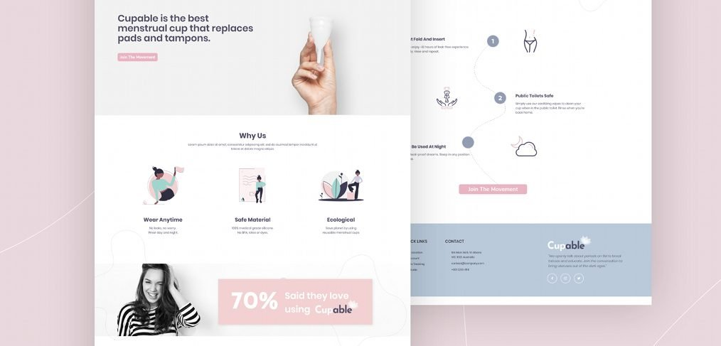 XD medical landing page template