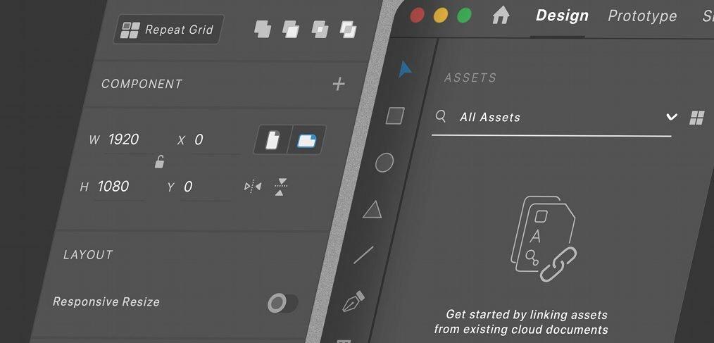 Adobe XD dark mode mockup