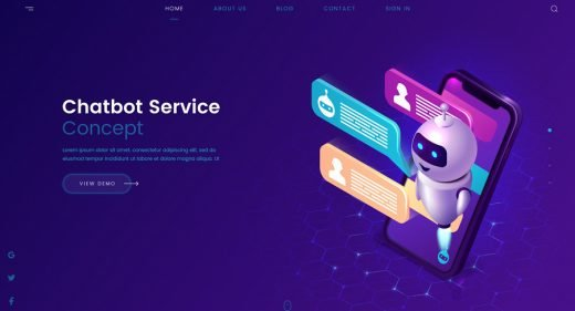 Chatbot XD web concept