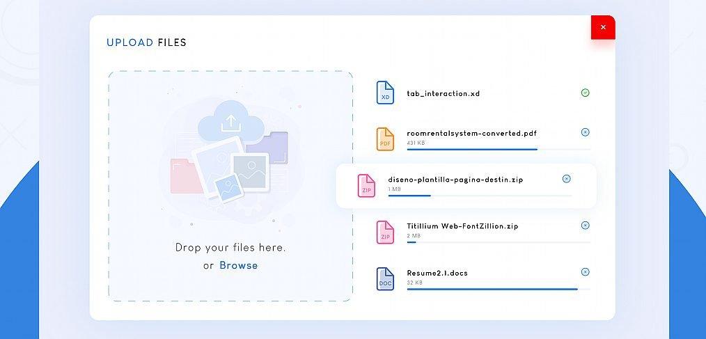 File upload UI widget in XD