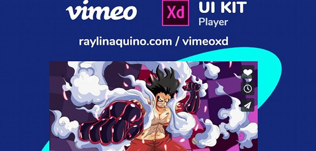 Vimeo UI player template for XD
