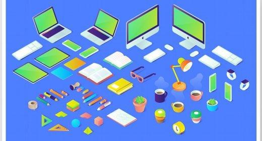 40 Free Isometric XD illustrations