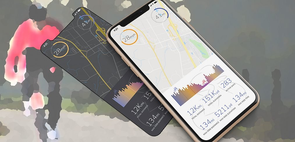 Cycling stats XD app concept