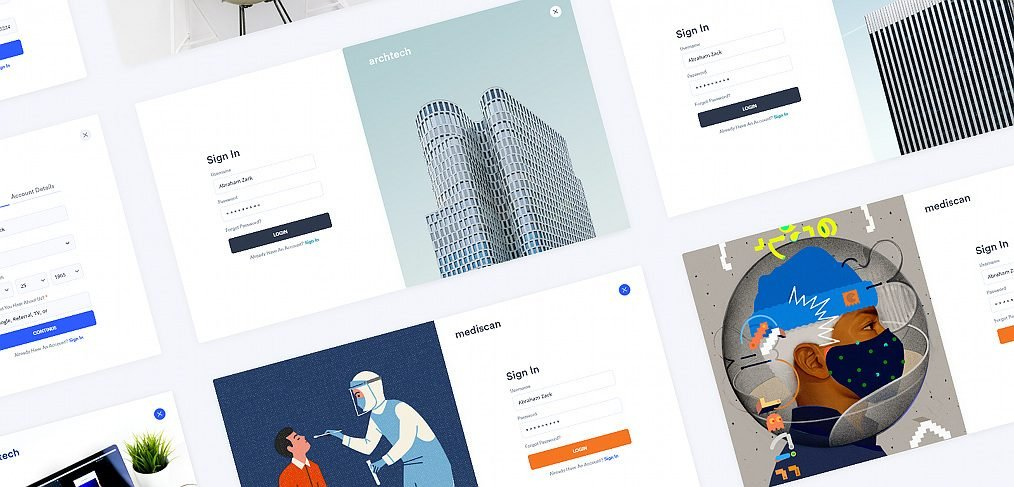 Free XD signup templates