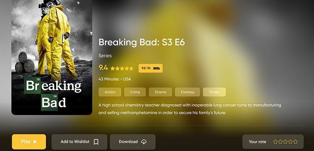 Movie Streamer XD template