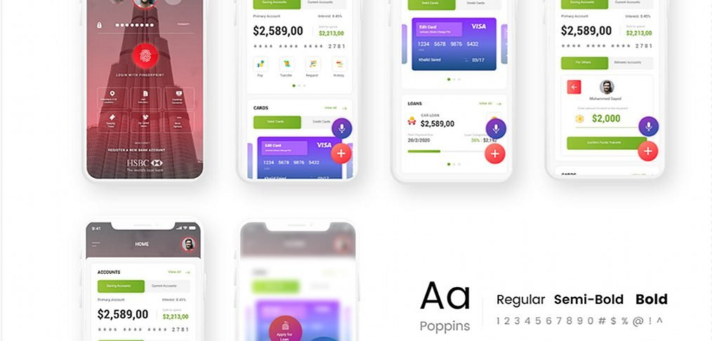 HSBC app redesign with Adobe XD