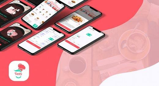 Restaurant booking app XD template