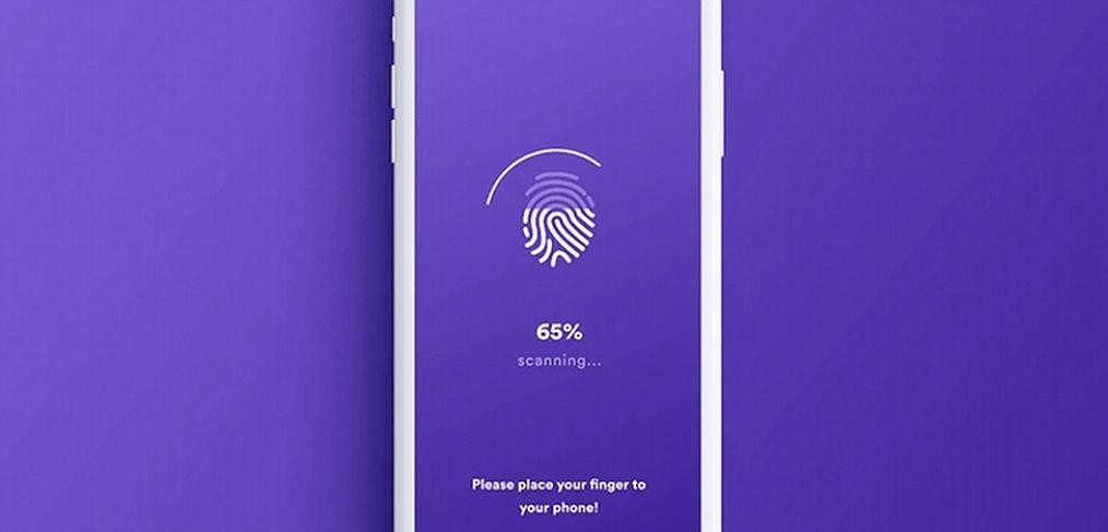 Touch ID fingerprint XD login animation
