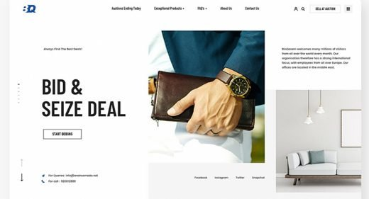 Free ecommerce store XD template