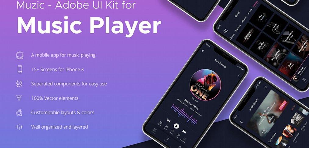 Muzic - Free music XD UI kit