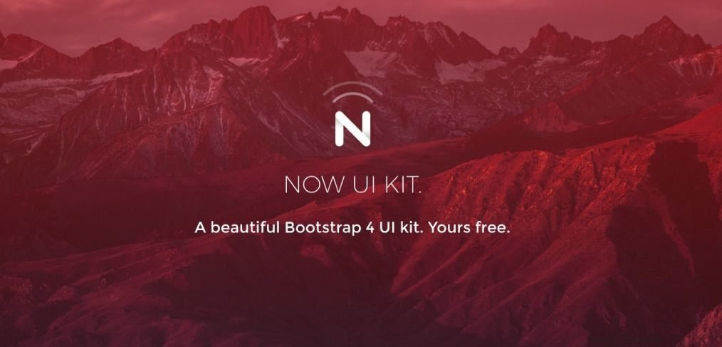 Now - Free Bootstrap 4 UI kit