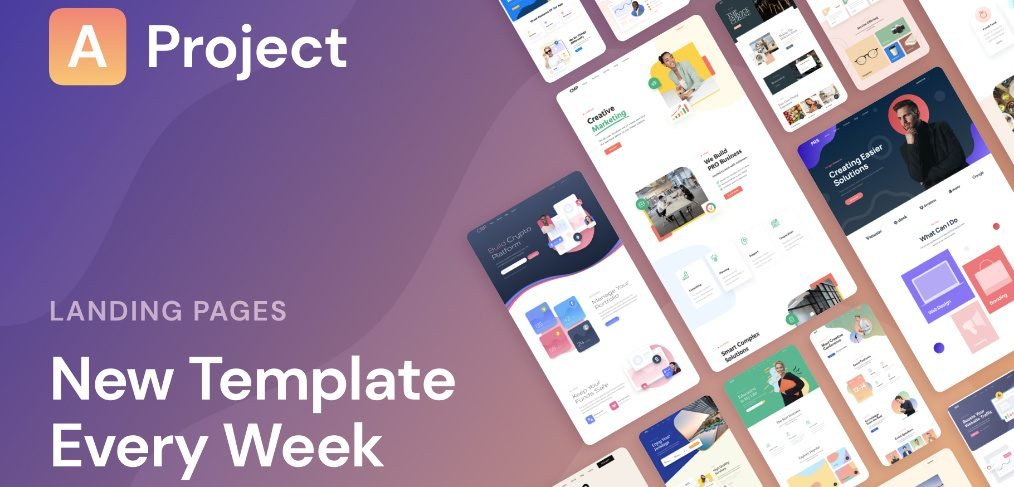 AProject - XD responsive landing pages