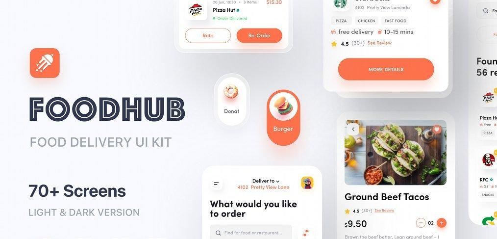 Food hub - Premium XD UI Kit