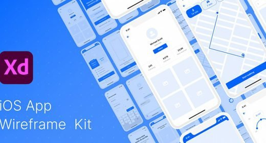 Free XD Wireframe Kit for iOS
