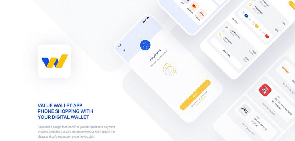 Value wallet XD app template