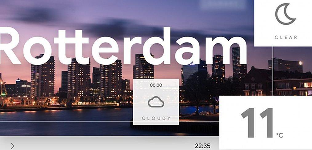Weather homepage XD animation