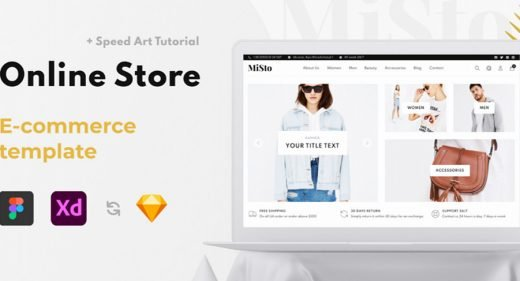 Misto XD ecommerce website template