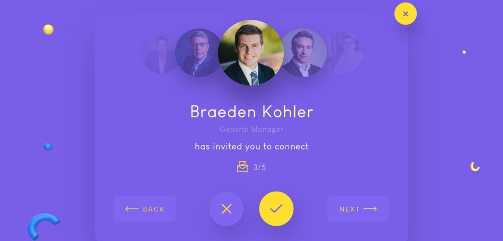 Invitation widget UI for XD