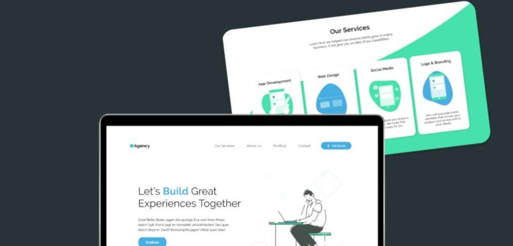Agency XD website template