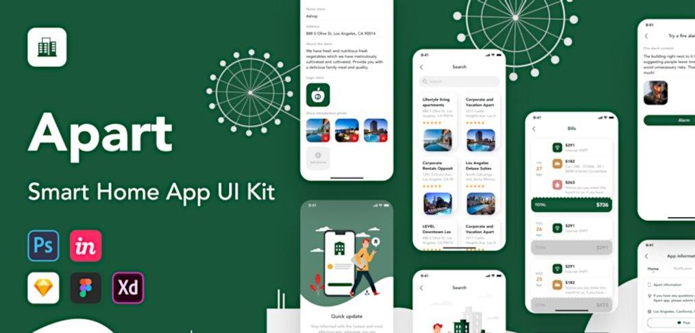 Apart - Smart home XD UI kit
