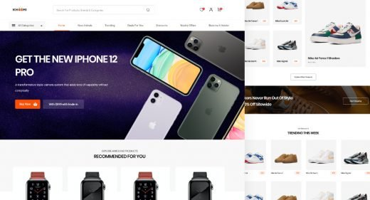 Ecommerce XD homepage template