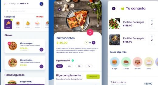 Delivery app XD mobile concept