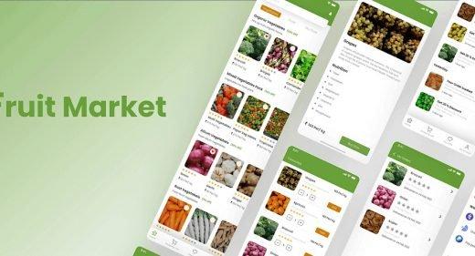Fruit market free XD UI kit