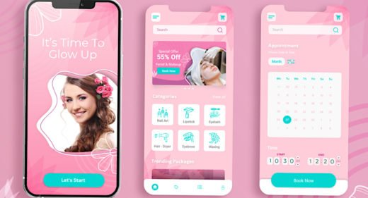 Beauty parlor XD app template