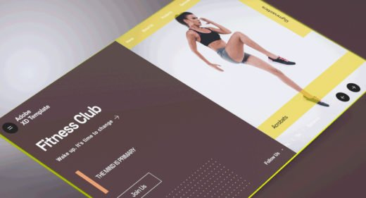 Gym/fitness XD homepage template