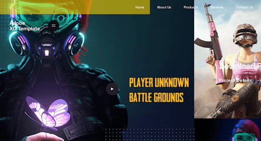 Adobe XD Auto animated Gaming Template