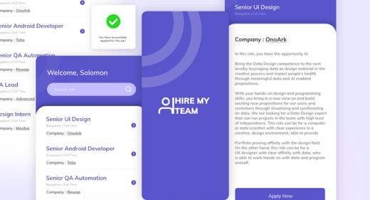 Mobile job board XD concept