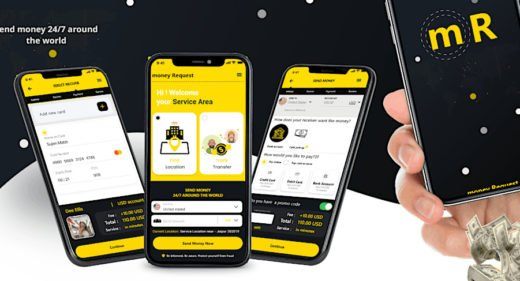 Money transfer app concept for XD